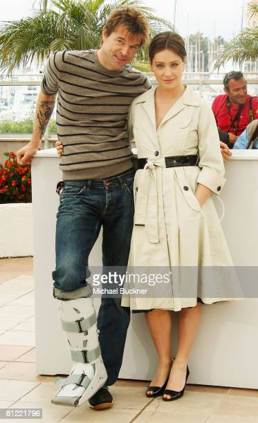 Actor Campino and actress Giovanna Mezzogiorno attend the 'Palermo Shooting' Photocall at the Palais des Festivals during the 61st International...