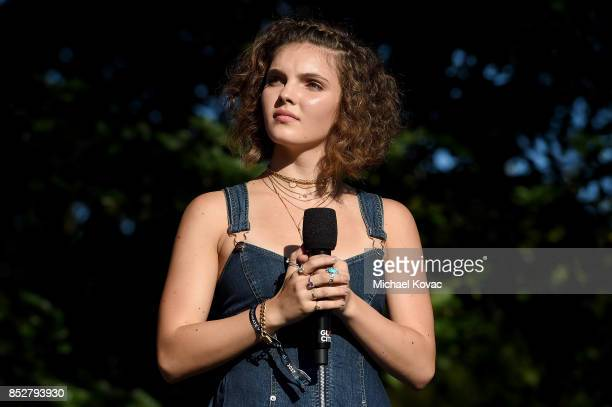 Actor Camren Bicondova speaks onstage during the 2017 Global Citizen Festival in Central Park to End Extreme Poverty by 2030 at Central Park on...