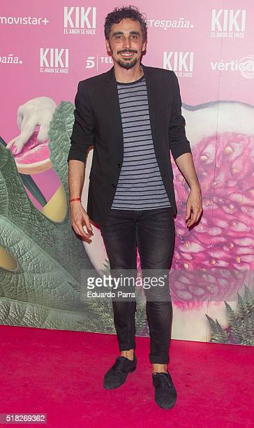 Actor Canco Rodriguez attends 'Kiki el amor se hace' premiere at Capitol cinema on March 30 2016 in Madrid Spain