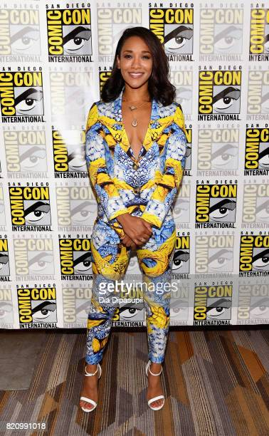 Actor Candice Patton at 'The Flash' Press Line during ComicCon International 2017 at Hilton Bayfront on July 22 2017 in San Diego California