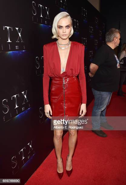 Actor Cara Delevingne at CinemaCon 2017 The State of the Industry Past Present and Future and STXfilms Presentation at The Colosseum at Caesars...