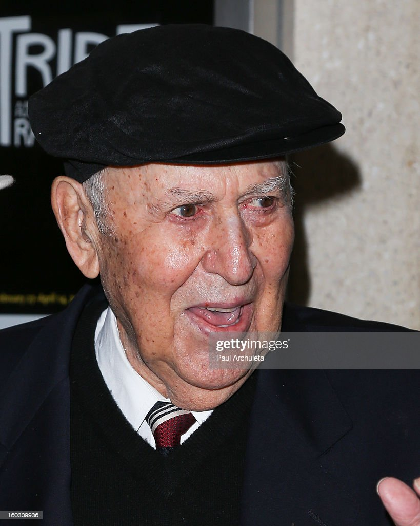 Actor <a gi-track='captionPersonalityLinkClicked' href=/galleries/search?phrase=Carl+Reiner&family=editorial&specificpeople=660635 ng-click='$event.stopPropagation()'>Carl Reiner</a> attends the 'Enter Laughing, The Musical' opening night at the Mark Taper Forum on January 28, 2013 in Los Angeles, California.