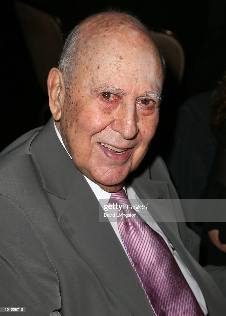 Actor <a gi-track='captionPersonalityLinkClicked' href=/galleries/search?phrase=Carl+Reiner&family=editorial&specificpeople=660635 ng-click='$event.stopPropagation()'>Carl Reiner</a> attends the Professional Dancers Society's Gypsy Awards Luncheon at The Beverly Hilton Hotel on March 24, 2013 in Beverly Hills, California.