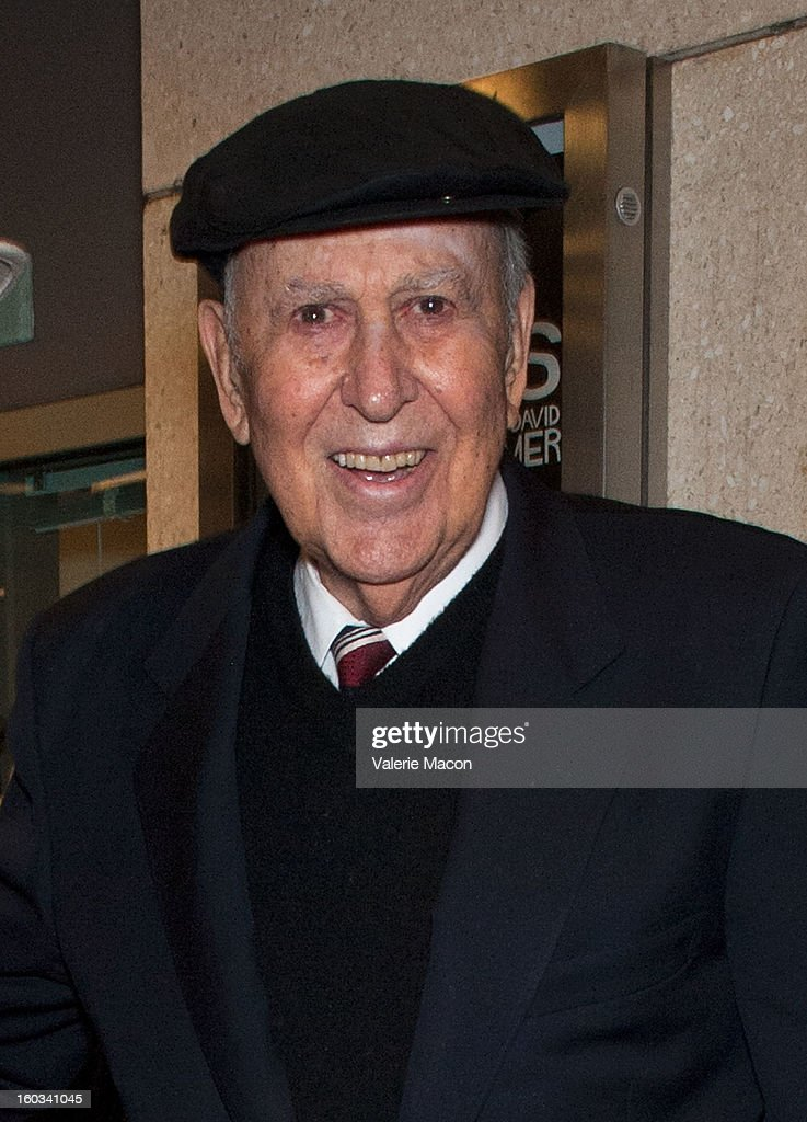 Actor <a gi-track='captionPersonalityLinkClicked' href=/galleries/search?phrase=Carl+Reiner&family=editorial&specificpeople=660635 ng-click='$event.stopPropagation()'>Carl Reiner</a> 'Enter Laughing, The Musical' <a gi-track='captionPersonalityLinkClicked' href=/galleries/search?phrase=Carl+Reiner&family=editorial&specificpeople=660635 ng-click='$event.stopPropagation()'>Carl Reiner</a>'s One-Night Only Tribute Celebrating His 75th Anniversary In Show Business at Mark Taper Forum on January 28, 2013 in Los Angeles, California.