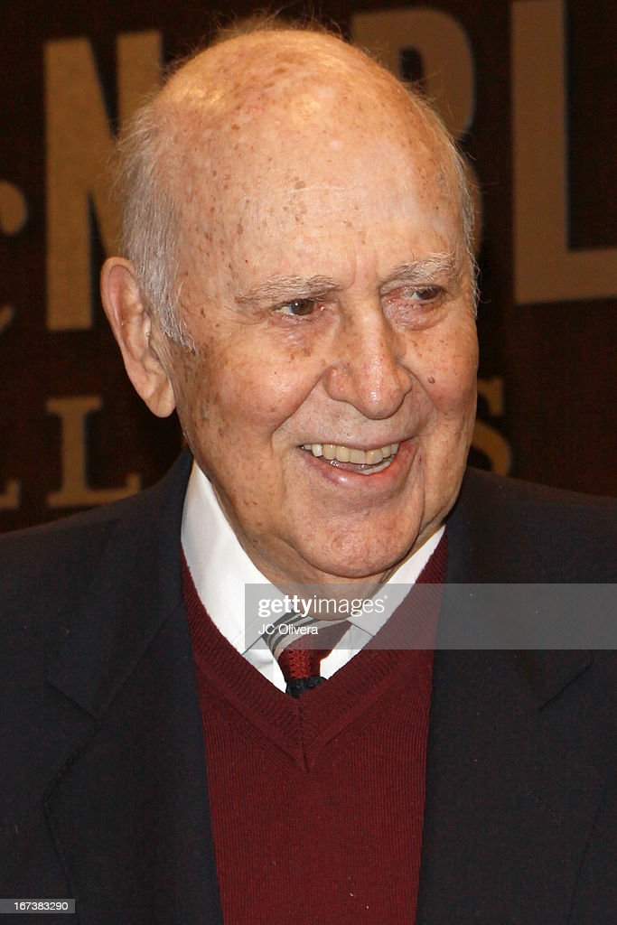 Actor Carl Reiner signs copies of his memoir 'I Remember Me' at Barnes & Noble bookstore at The Grove on April 24, 2013 in Los Angeles, California.
