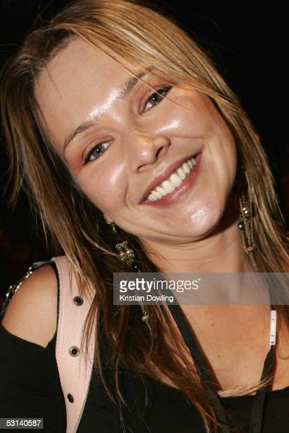 Actor Carla Bonner poses at the Neighbours Rocks for AIDS Fundraiser June 23 2005 at the Palace n Melbourne Australia