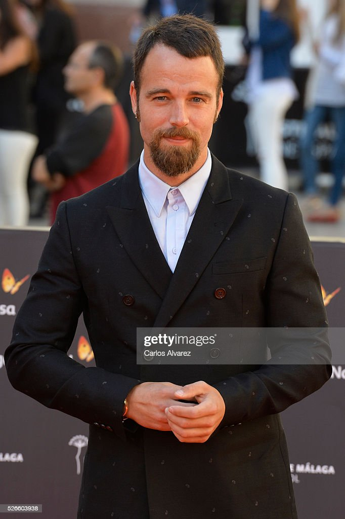 Actor Carles Francino attends 'Nuestros Amantes' premiere at the Cervantes Teather during the 19th Malaga Film Festival on April 30, 2016 in Malaga, Spain.