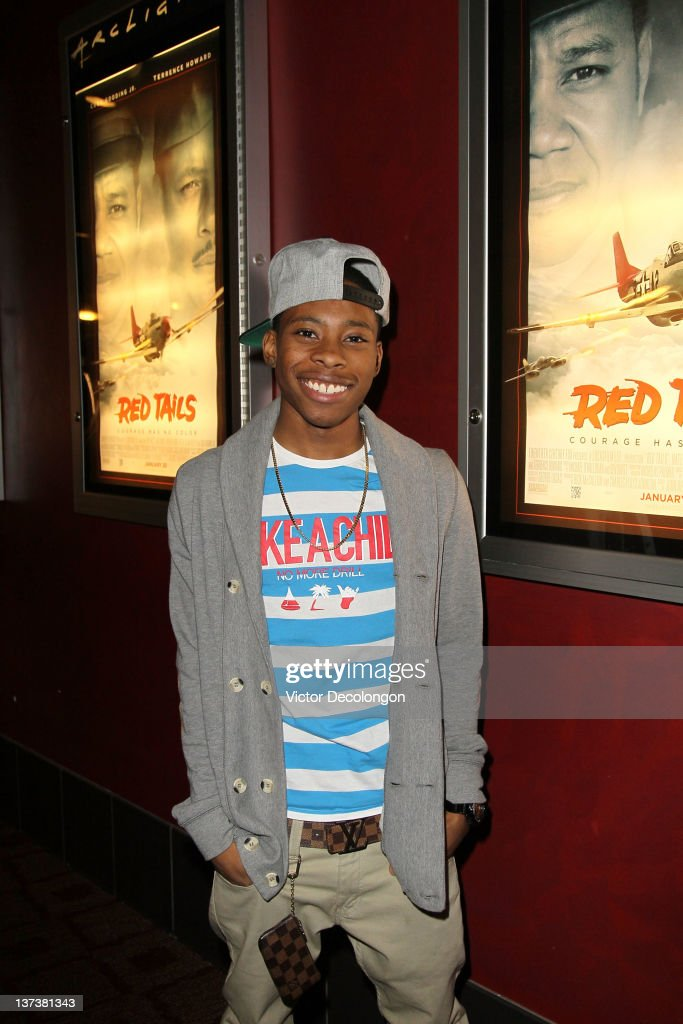 Actor Carlon Jefferey arrives for the screening of 'Red Tails' at ArcLight Cinemas on January 19 2012 in Hollywood California