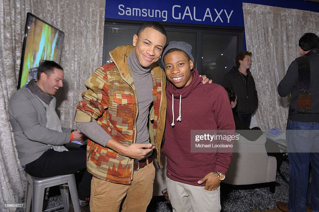 Actor Carlon Jeffery (R) attends Day 3 of Samsung Galaxy Lounge at Village At The Lift 2013 on January 20, 2013 in Park City, Utah.