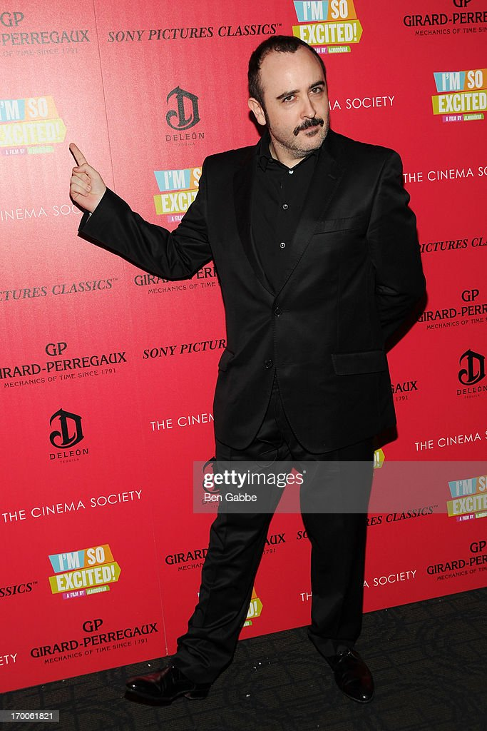Actor <a gi-track='captionPersonalityLinkClicked' href=/galleries/search?phrase=Carlos+Areces&family=editorial&specificpeople=6547624 ng-click='$event.stopPropagation()'>Carlos Areces</a> attends a screening of Sony Pictures Classics' 'I'm So Excited' hosted by Girard-Perregaux and The Cinema Society with DeLeon at Sunshine Landmark on June 6, 2013 in New York City.