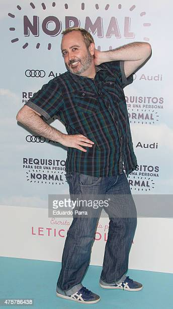 Actor Carlos Areces attends 'Requisitos para ser una persona normal' premiere at Palafox cinema on June 3 2015 in Madrid Spain