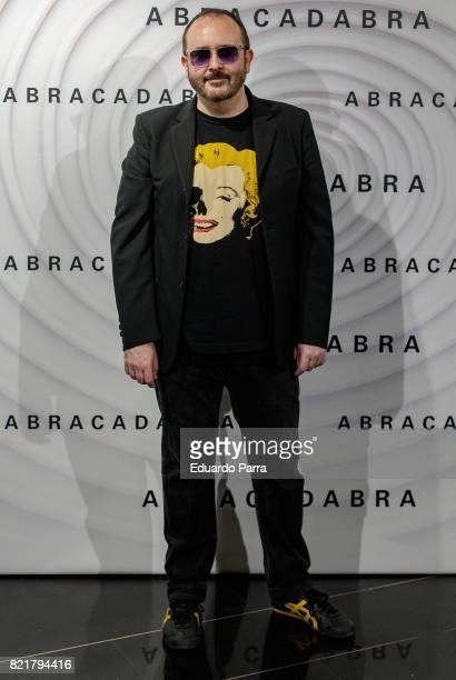 Actor Carlos Areces attends the 'Abracadabra' premiere at Palacio de la Prensa cinema on July 24 2017 in Madrid Spain