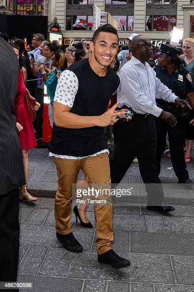 Actor Carlos Pena Jr leaves the 'Good Morning America' taping at the ABC Times Square Studios on September 2 2015 in New York City