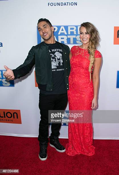 Actor Carlos PenaVega and actress Alexa PenaVega attend the premiere of Pantelion Films 'Spare Parts' at ArcLight Cinemas on January 8 2015 in...