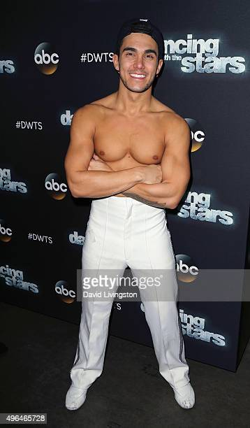 Actor Carlos PenaVega attends 'Dancing with the Stars' Season 21 at CBS Television City on November 9 2015 in Los Angeles California