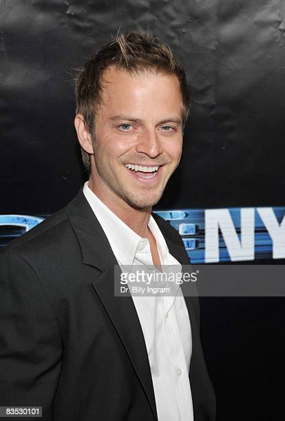 Actor Carmine Giovinazzo arrives as 'CSI NY' celebrates its 100th episode on November 1 2008 at the Edison in Los Angeles California