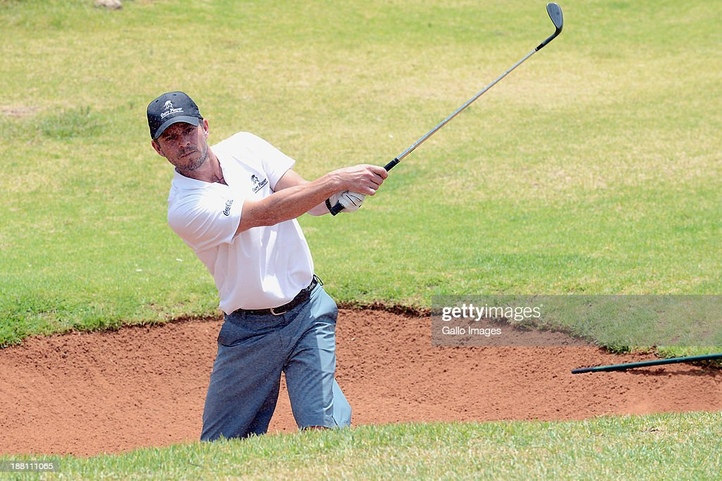 Actor Carmine Giovinazzo in action during the Pro-Am of the Gary Player Invitational presented by Coca-Cola at The Lost City Golf Course on November 15, 2013 in Sun City, South Africa.