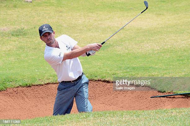 Actor Carmine Giovinazzo in action during the ProAm of the Gary Player Invitational presented by CocaCola at The Lost City Golf Course on November 15...