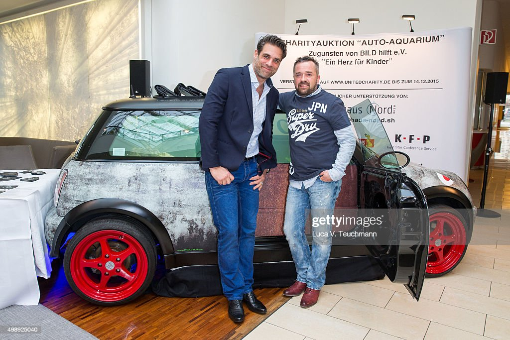 actor carsten spengemann and oliver mengelberg poses during the presentation of his charity project a - Compact Hotel 2015