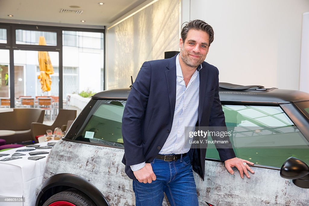 actor carsten spengemann poses during the presentation of his charity project a compact car converted - Compact Hotel 2015
