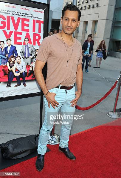 Actor Cas Anvar arrives at the Screening of Magnolia Pictures' 'I Give It A Year' at ArcLight Hollywood on August 1 2013 in Hollywood California