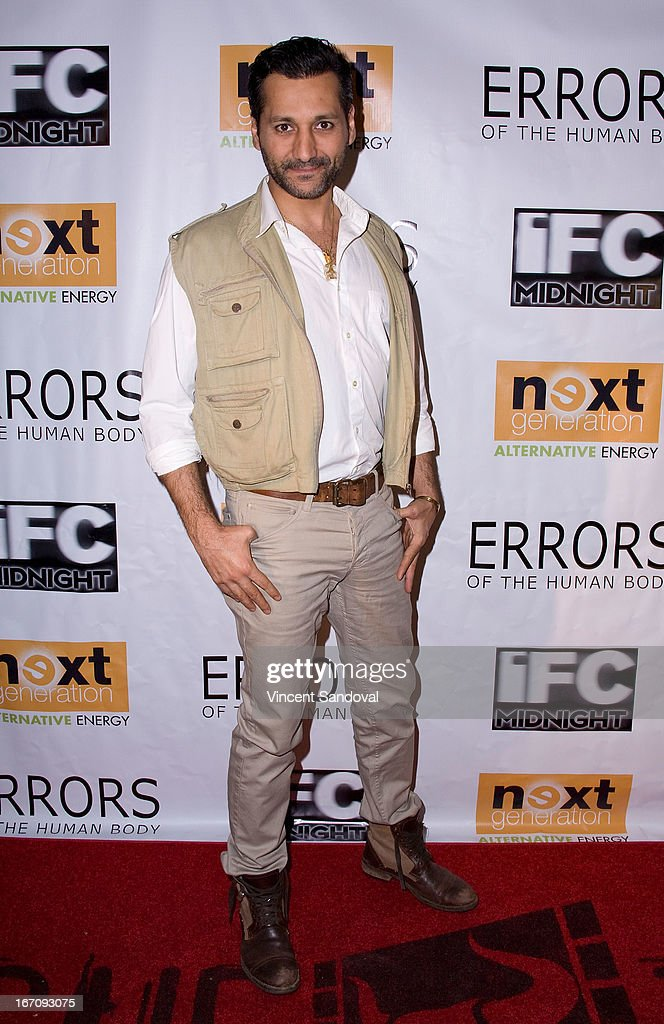 Actor <a gi-track='captionPersonalityLinkClicked' href=/galleries/search?phrase=Cas+Anvar&family=editorial&specificpeople=3139960 ng-click='$event.stopPropagation()'>Cas Anvar</a> attends the Los Angeles special screening of 'Errors Of The Human Body' at Arena Cinema Hollywood on April 19, 2013 in Hollywood, California.