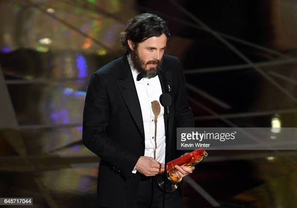 Actor Casey Affleck accepts Best Actor for 'Manchester by the Sea' onstage during the 89th Annual Academy Awards at Hollywood Highland Center on...