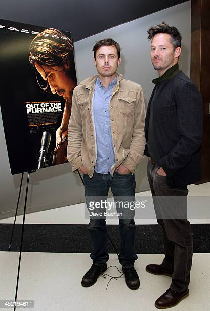 Actor Casey Affleck and Director Scott Cooper attend TheWrap's Awards Foreign Screening Series 'Out of the Furnace' at the Landmark Theater on...