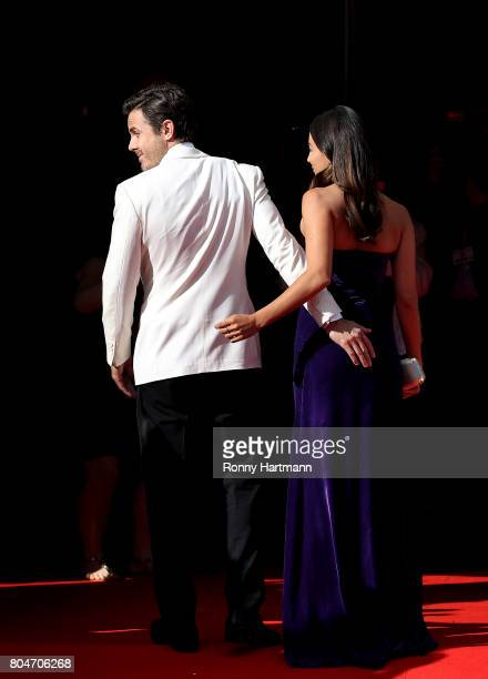 US actor Casey Affleck and his girlfriend Floriana Lima arrives at the opening ceremony of the 52st Karlovy Vary International Film Festival on June...