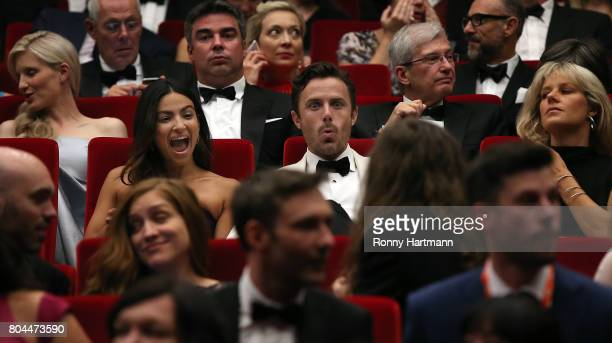 US actor Casey Affleck and his girlfriend Floriana Lima attend the opening ceremony of the 52st Karlovy Vary International Film Festival on June 30...