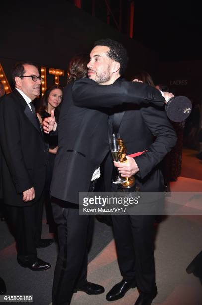 Actor Casey Affleck and producer Ezra Edelman attends the 2017 Vanity Fair Oscar Party hosted by Graydon Carter at Wallis Annenberg Center for the...