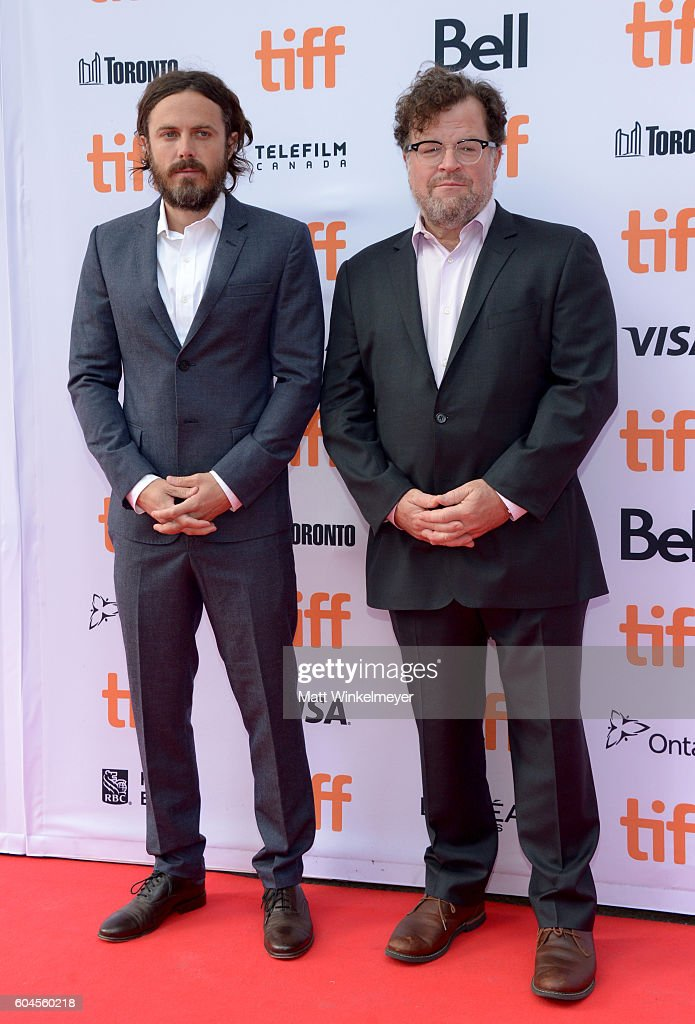 Actor Casey Affleck (L) and writer/producer Kenneth Lonergan attend the 'Manchester by the Sea' premiere during the 2016 Toronto International Film Festivalat at Princess of Wales Theatre on September 13, 2016 in Toronto, Canada.