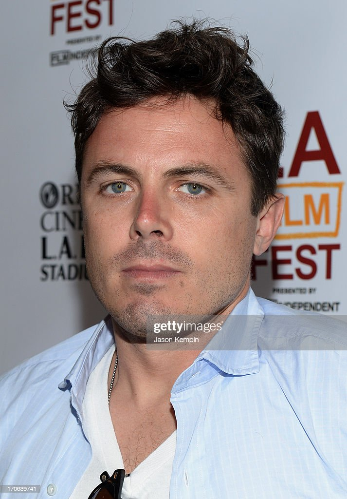 Actor <a gi-track='captionPersonalityLinkClicked' href=/galleries/search?phrase=Casey+Affleck&family=editorial&specificpeople=1539212 ng-click='$event.stopPropagation()'>Casey Affleck</a> arrives at the 'Ain't Them Bodies Saints' premiere during the 2013 Los Angeles Film Festival at Regal Cinemas L.A. Live on June 15, 2013 in Los Angeles, California.