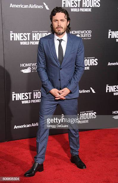 Actor Casey Affleck arrives at the premiere of Disney's 'The Finest Hours' at TCL Chinese Theatre on January 25 2016 in Hollywood California