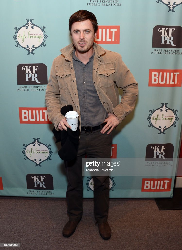 Actor <a gi-track='captionPersonalityLinkClicked' href=/galleries/search?phrase=Casey+Affleck&family=editorial&specificpeople=1539212 ng-click='$event.stopPropagation()'>Casey Affleck</a> attends Day 3 of the Kari Feinstein Style Lounge on January 20, 2013 in Park City, Utah.