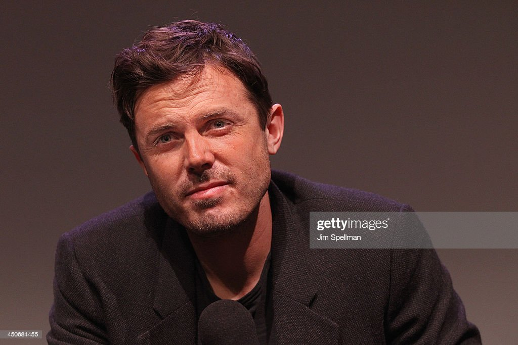 Actor <a gi-track='captionPersonalityLinkClicked' href=/galleries/search?phrase=Casey+Affleck&family=editorial&specificpeople=1539212 ng-click='$event.stopPropagation()'>Casey Affleck</a> attends Meet the Filmmakers at the Apple Store Soho on November 19, 2013 in New York City.