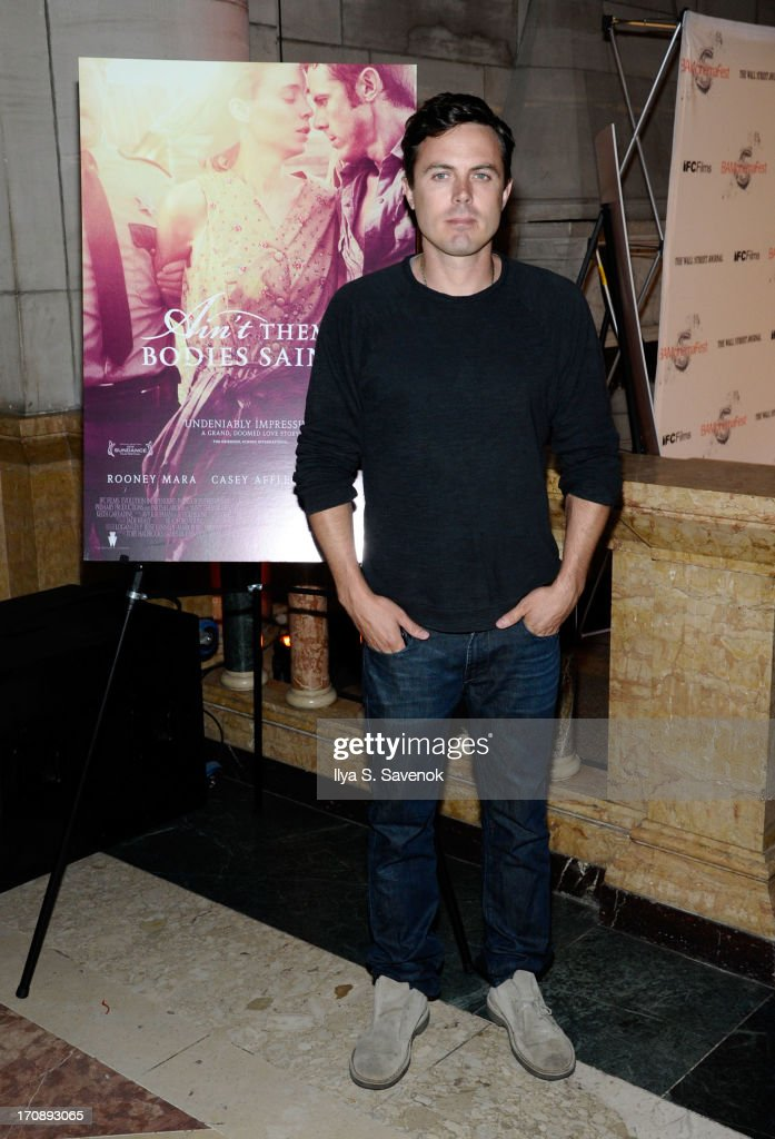 Actor <a gi-track='captionPersonalityLinkClicked' href=/galleries/search?phrase=Casey+Affleck&family=editorial&specificpeople=1539212 ng-click='$event.stopPropagation()'>Casey Affleck</a> attends the after party for the Opening Night premiere of 'Ain't Them Bodies Saints' hosted by The Cinema Society at Skylight One Hanson on June 19, 2013 in New York City.