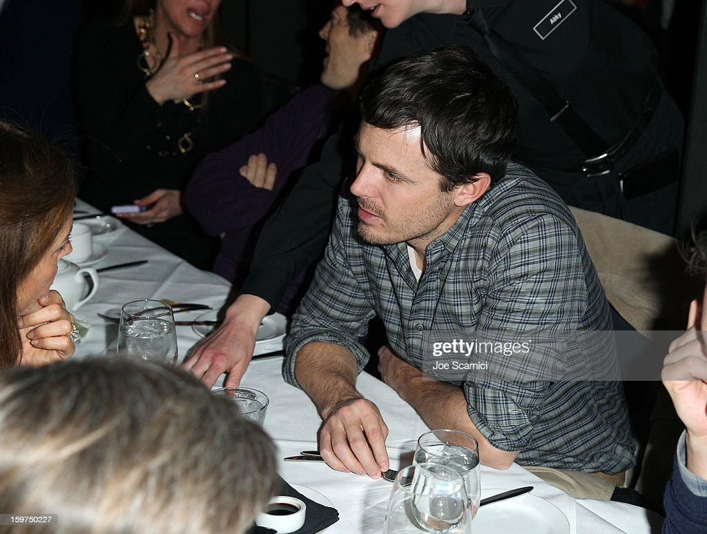 Actor <a gi-track='captionPersonalityLinkClicked' href=/galleries/search?phrase=Casey+Affleck&family=editorial&specificpeople=1539212 ng-click='$event.stopPropagation()'>Casey Affleck</a> attends the Facebook & Sundance Institute Dinner at Riverhorse Cafe during the 2013 Sundance Film Festival on January 19, 2013 in Park City, Utah.