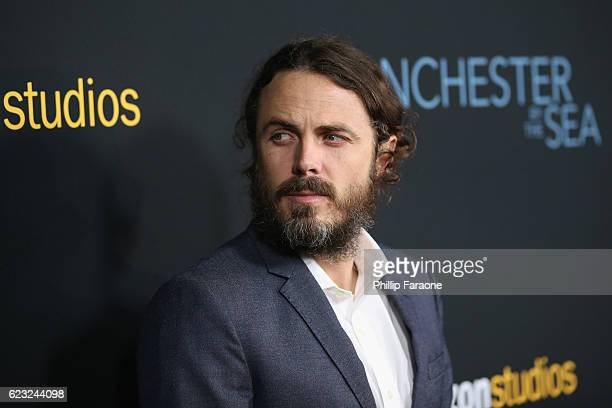 Actor Casey Affleck attends the premiere of Amazon Studios' 'Manchester By The Sea' at Samuel Goldwyn Theater on November 14 2016 in Beverly Hills...