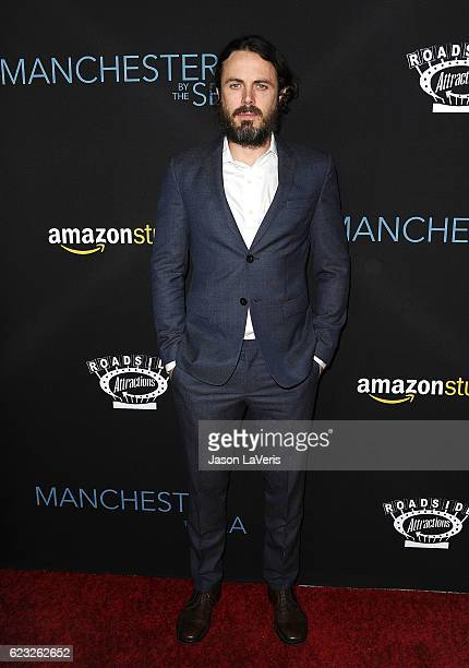 Actor Casey Affleck attends the premiere of 'Manchester by the Sea' at Samuel Goldwyn Theater on November 14 2016 in Beverly Hills California