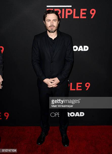 Actor Casey Affleck attends the premiere of Open Road's 'Triple 9' at Regal Cinemas LA Live on February 16 2016 in Los Angeles California