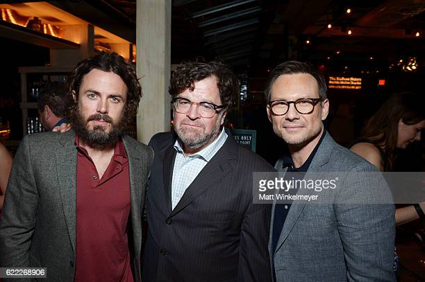 Actor Casey Affleck director Kenneth Lonergan and actor Christian Slater attend the Hollywood Foreign Press Association and InStyle celebrate the...