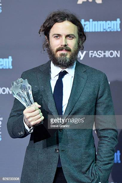 Actor Casey Affleck poses in the press room after winning the award for Best Actor for the film 'Manchester by the Sea' during The 22nd Annual...