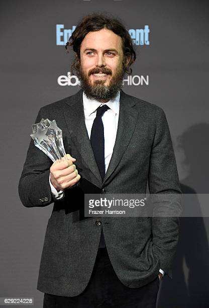 Actor Casey Affleck winner of Best Actor for 'Manchester by the Sea' poses in the press room during The 22nd Annual Critics' Choice Awards at Barker...