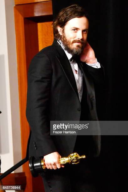 Actor Casey Affleck winner of Best Actor for 'Manchester by the Sea' poses in the press room during the 89th Annual Academy Awards at Hollywood...