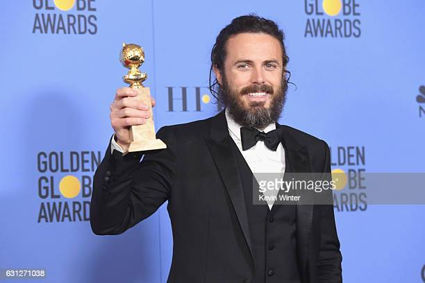 Actor Casey Affleck winner of Best Actor in a Motion Picture Drama for 'Manchester by the Sea' poses in the press room during the 74th Annual Golden...