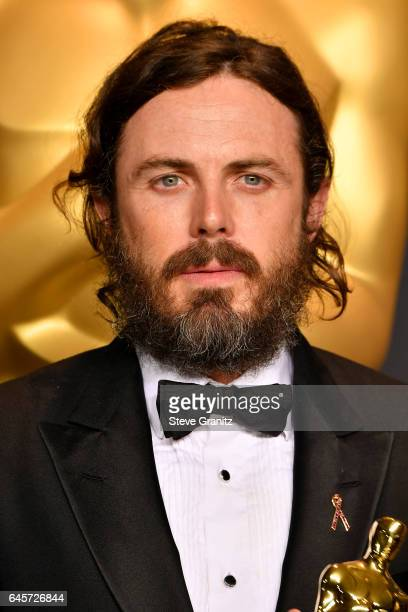 Actor Casey Affleck winner of the award for Actor in a Leading Role for 'Manchester by the Sea' poses in the press room during the 89th Annual...