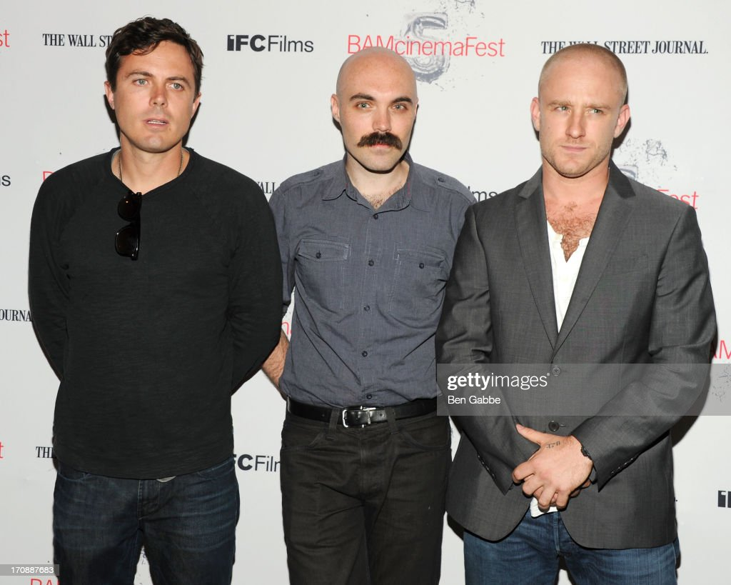 Actor Casey Affleck writer/director David Lowery and actor Ben Foster attend the BAMcinemaFest 2013 and The Cinema Society opening night premiere of...