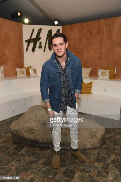 Actor Casey Cott attends HM Loves Coachella Tent during day 1 of the Coachella Valley Music Arts Festival at the Empire Polo Club on April 14 2017 in...