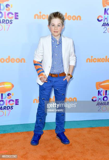 Actor Casey Simpson at Nickelodeon's 2017 Kids' Choice Awards at USC Galen Center on March 11 2017 in Los Angeles California